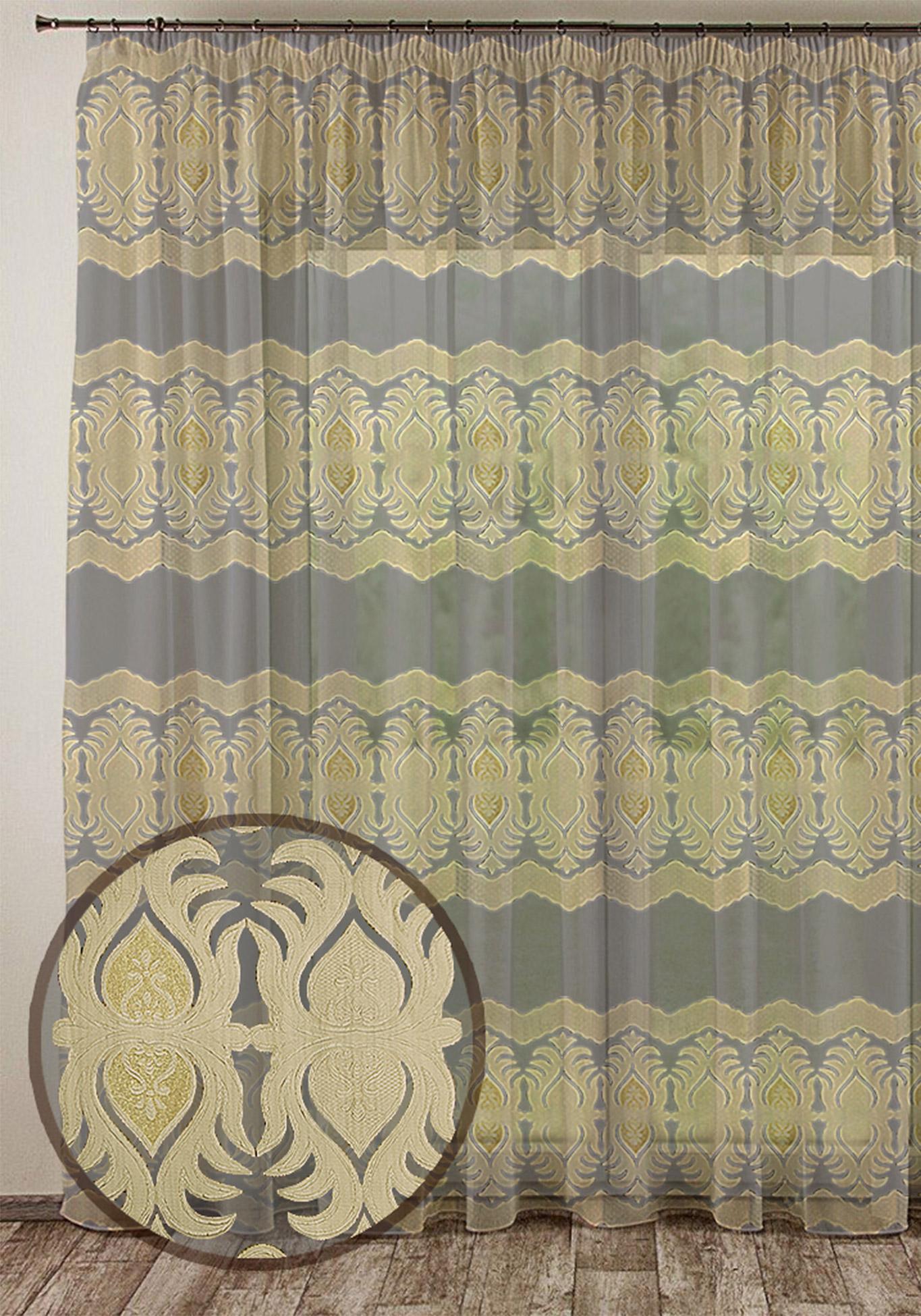 Тюль Очарование комплект шторы и тюль мартекс фиолетовый сад