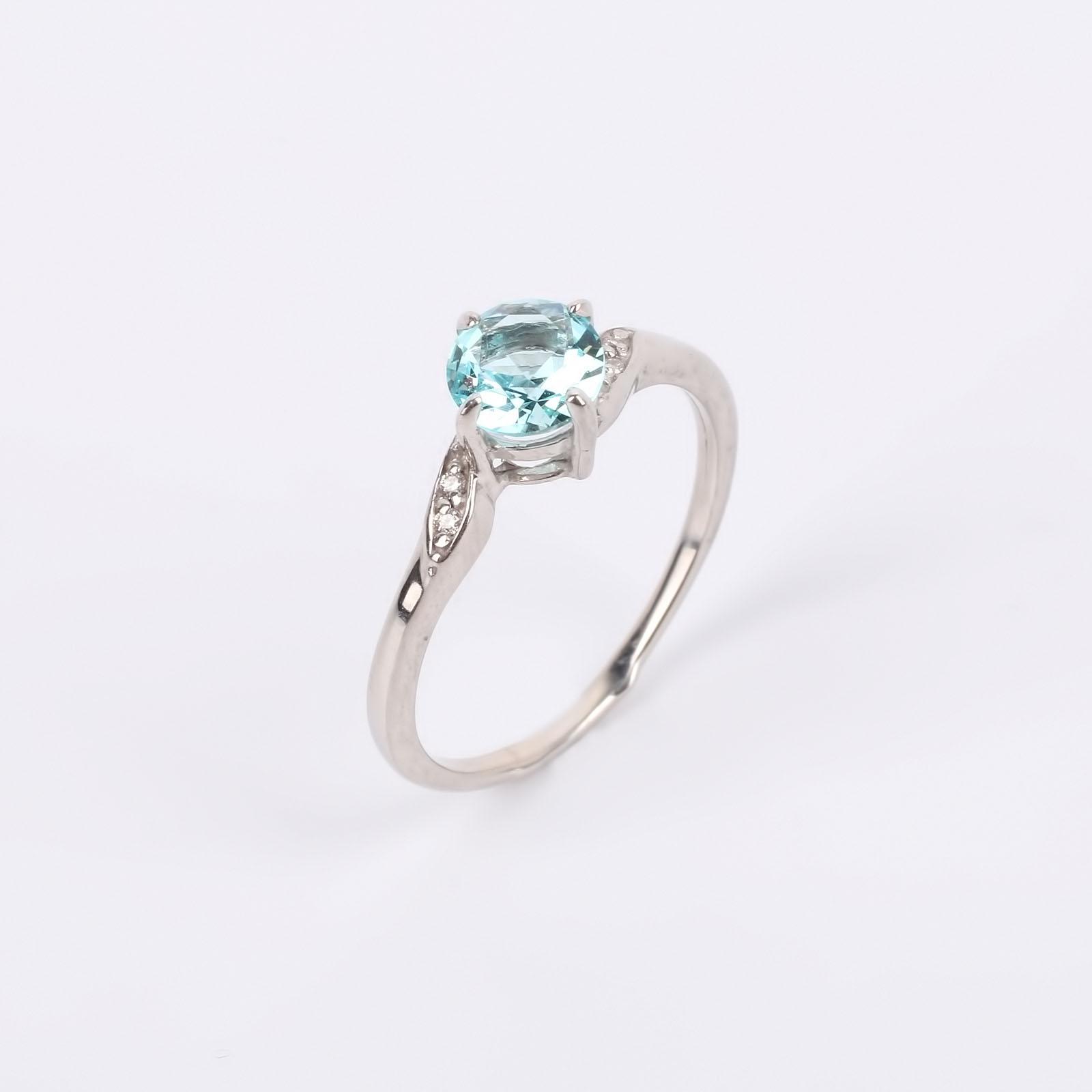 """Кольцо из серебра """"Небесный кристалл"""""""