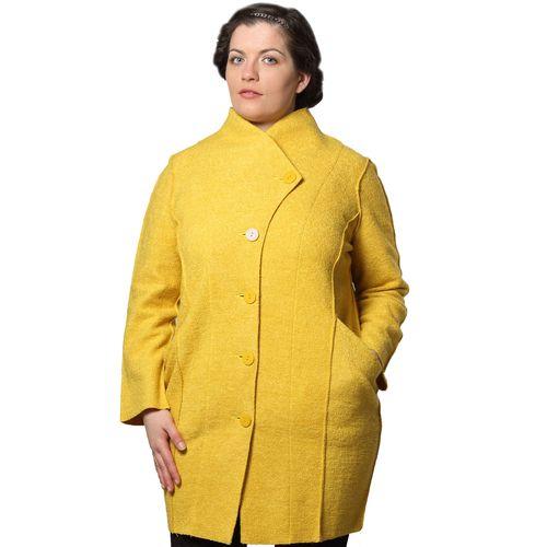 Полушерстяное пальто букле