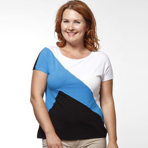 Блуза с геометрическим принтом и коротким рукавом