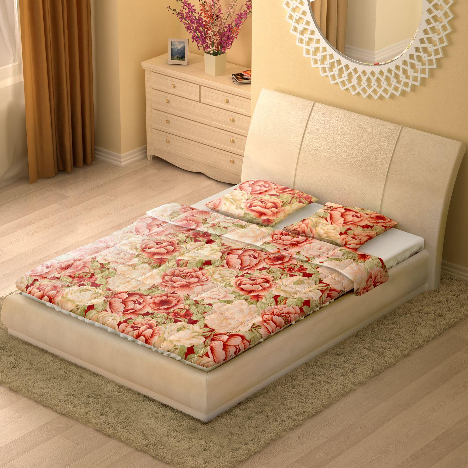 Комплект «Цветущая роза» одеяло + 2 подушки 70х70 см