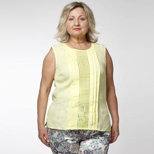 Блуза льняная с защипами
