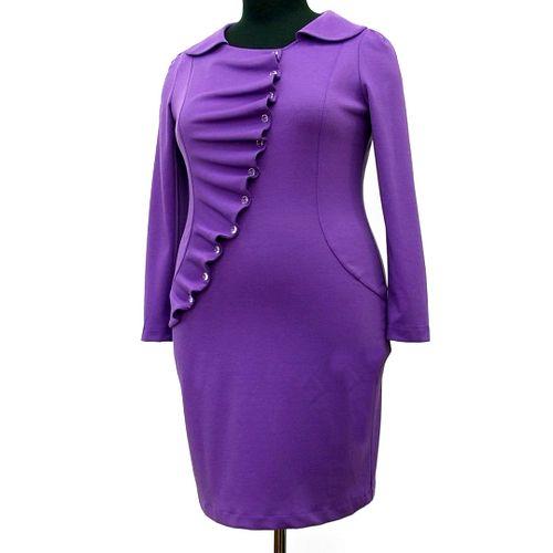 Платье с декоративной волнообразной накидкой