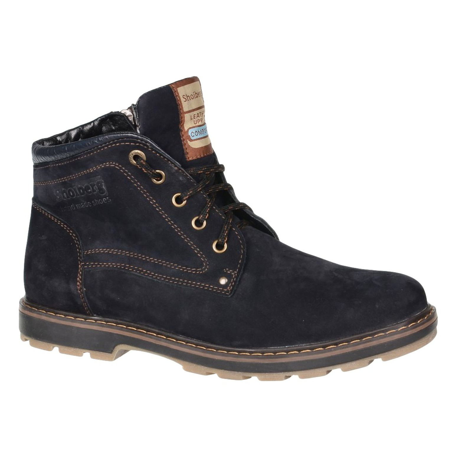 Ботинки мужские на шнуровке и молнии обувь shoiberg