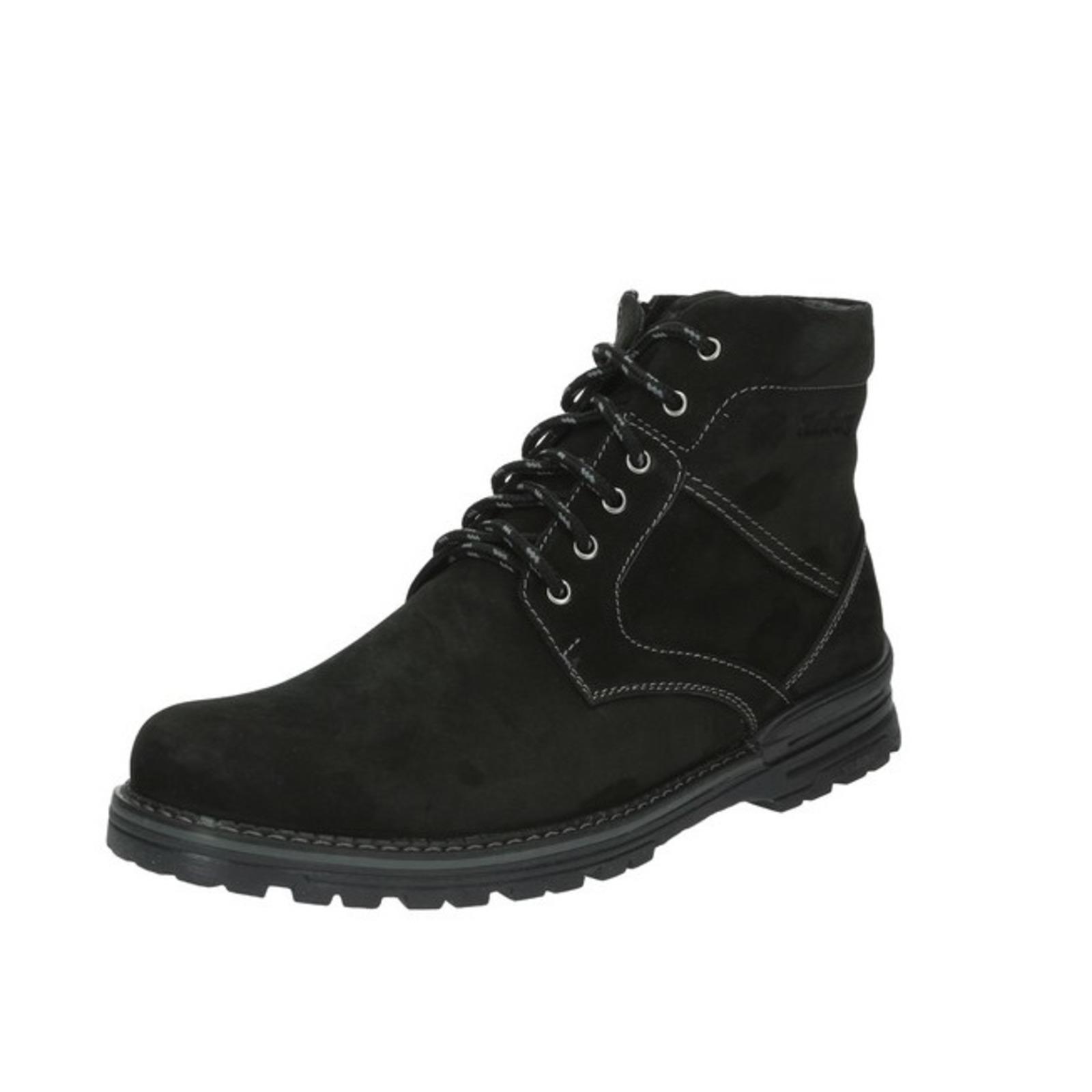 Мужские высокие ботинки на молнии