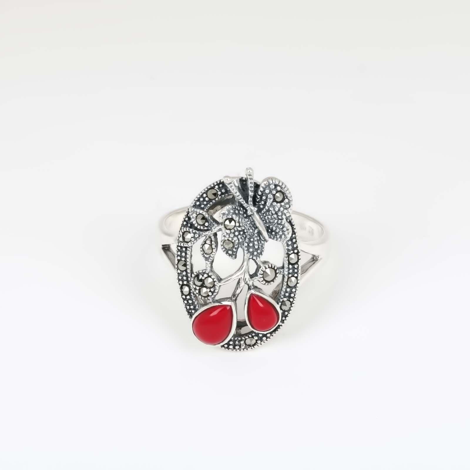 Серебряное кольцо «Коралл»
