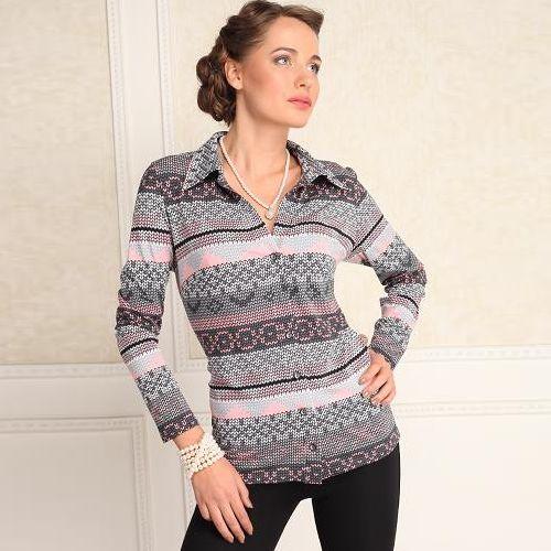 Блуза с геометрическим узором