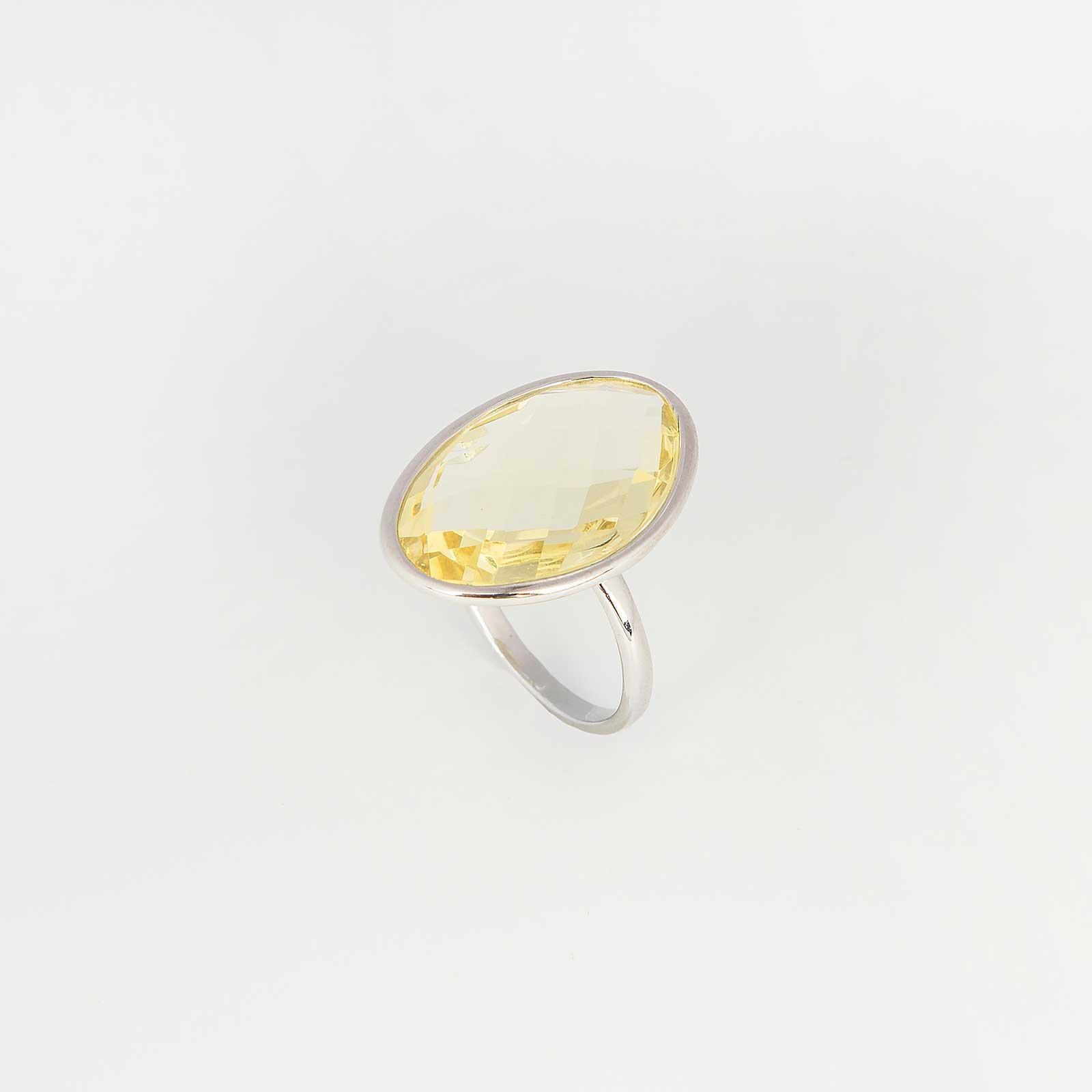 Серебряное кольцо «Солнечный зайчик»