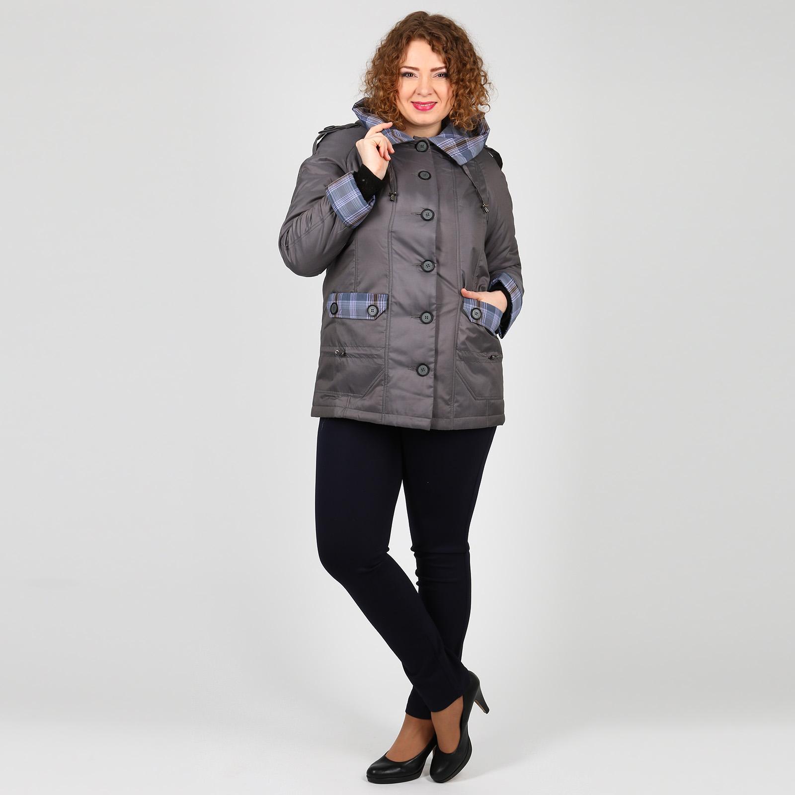 Куртка на пуговицах с карманами