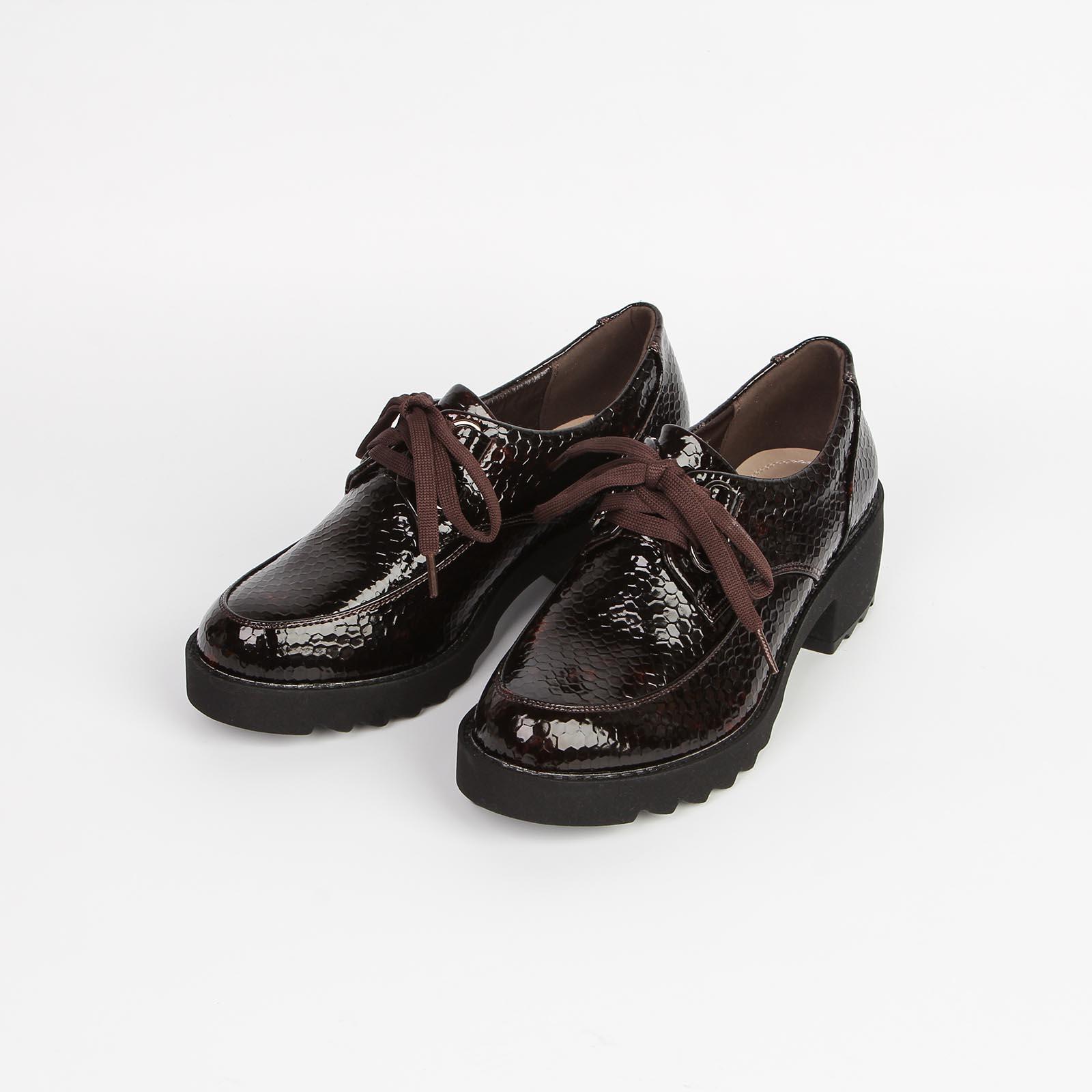 Ботинки женские на шнурках лакированные