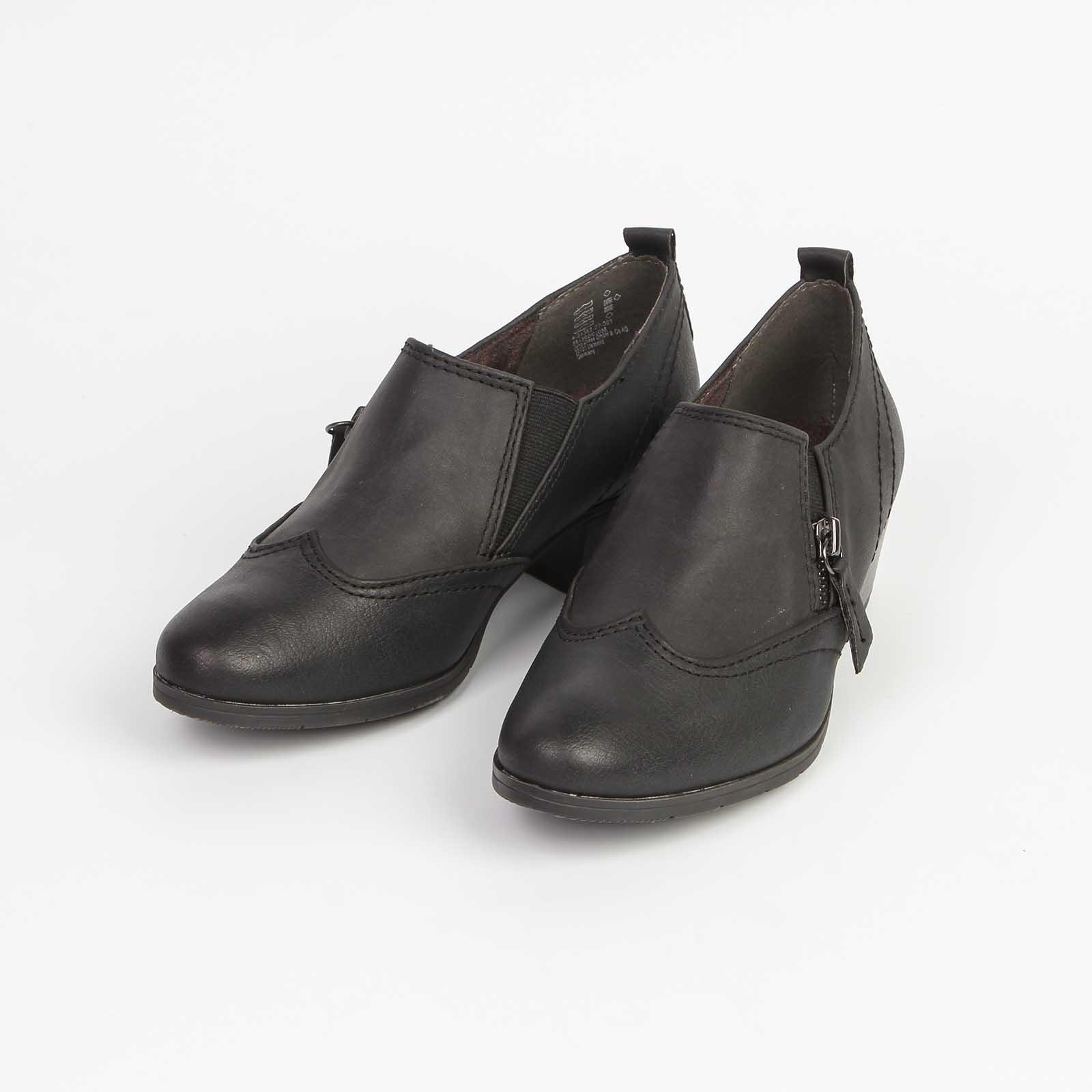 Ботинки женские со вставкой и на молнии
