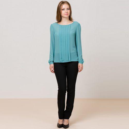 Блуза с длинным рукавом и декоративными элементами