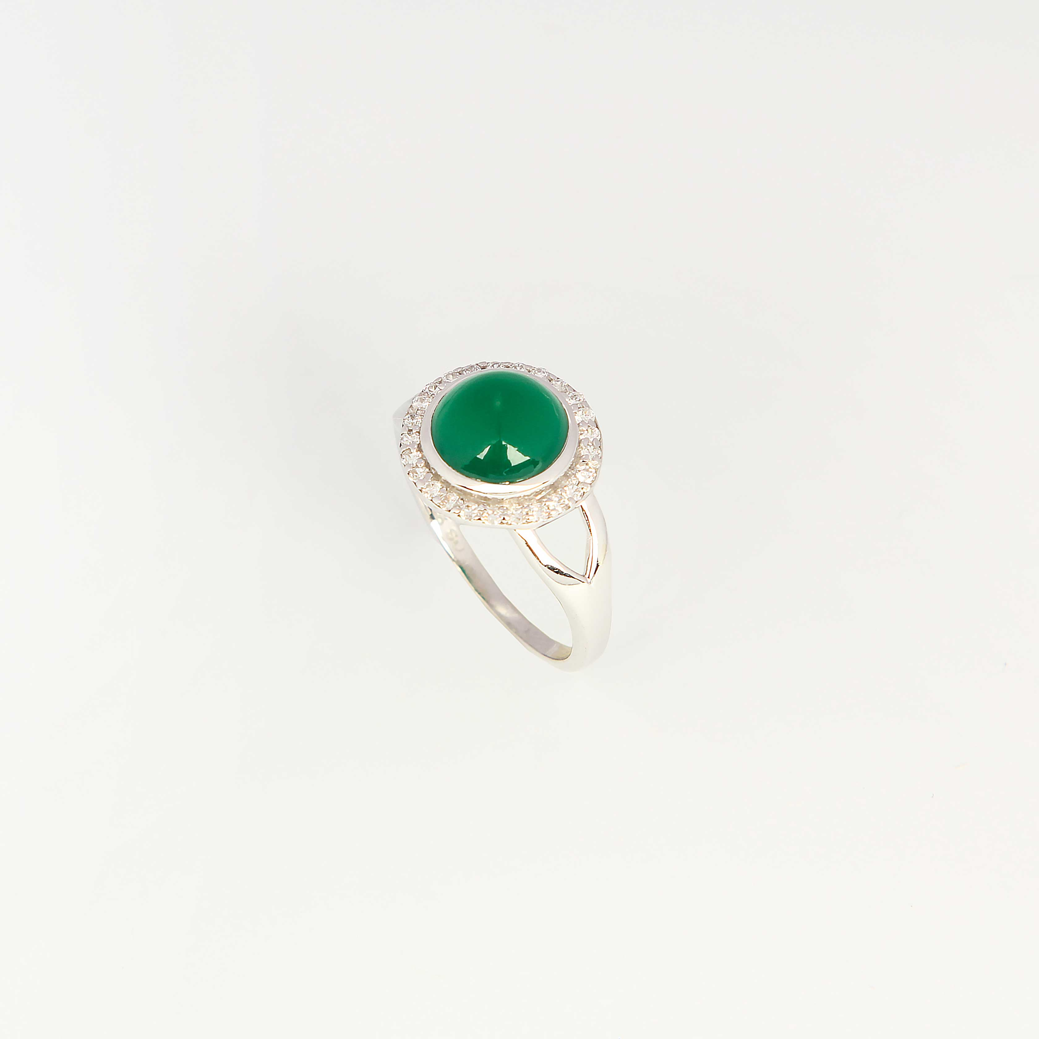 Серебряное кольцо «Лунный свет» женские кольца jv женское серебряное кольцо с куб циркониями f 642r 001 wg 17 5