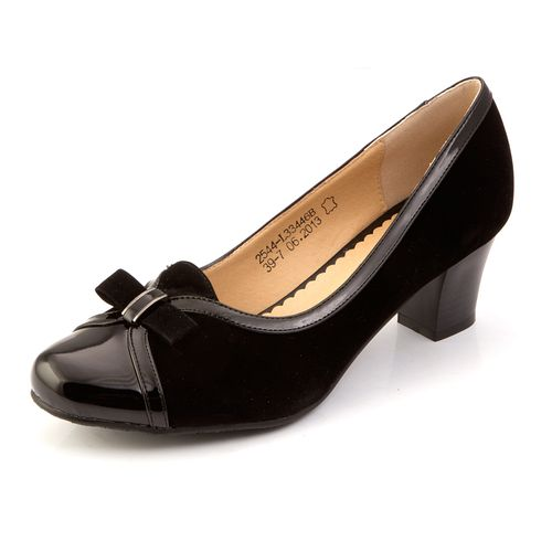 Туфли с лакированным мысом