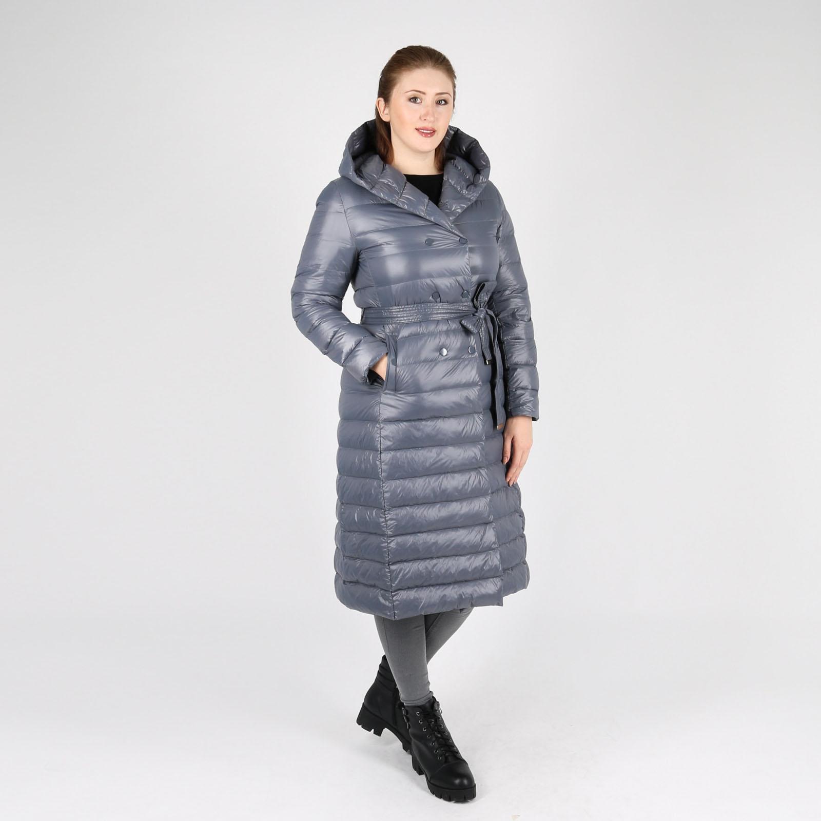 Пальто с боковыми карманами и капюшоном