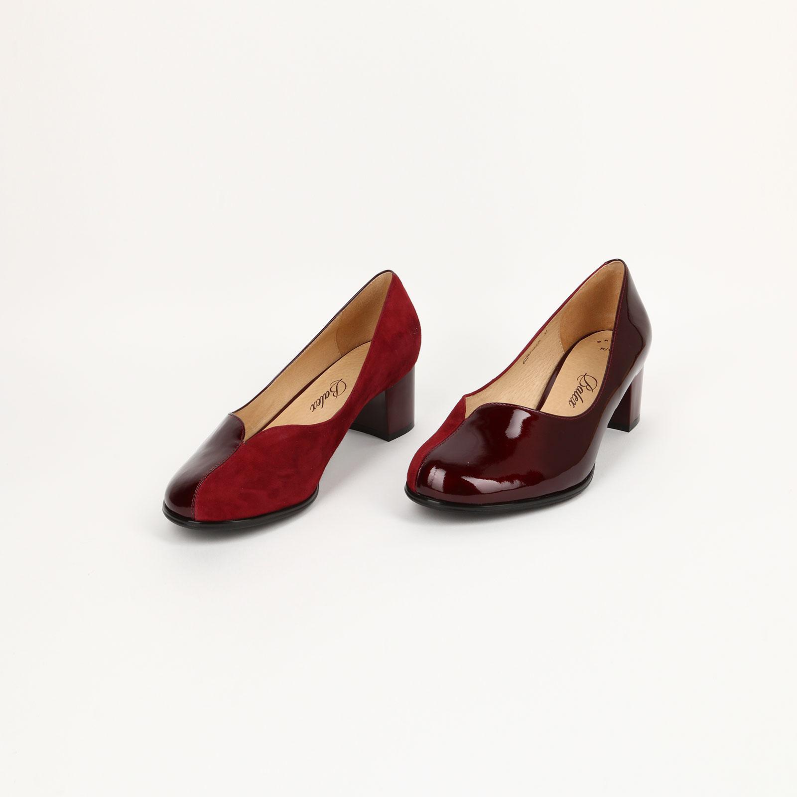 Туфли женские с комбинированным верхом
