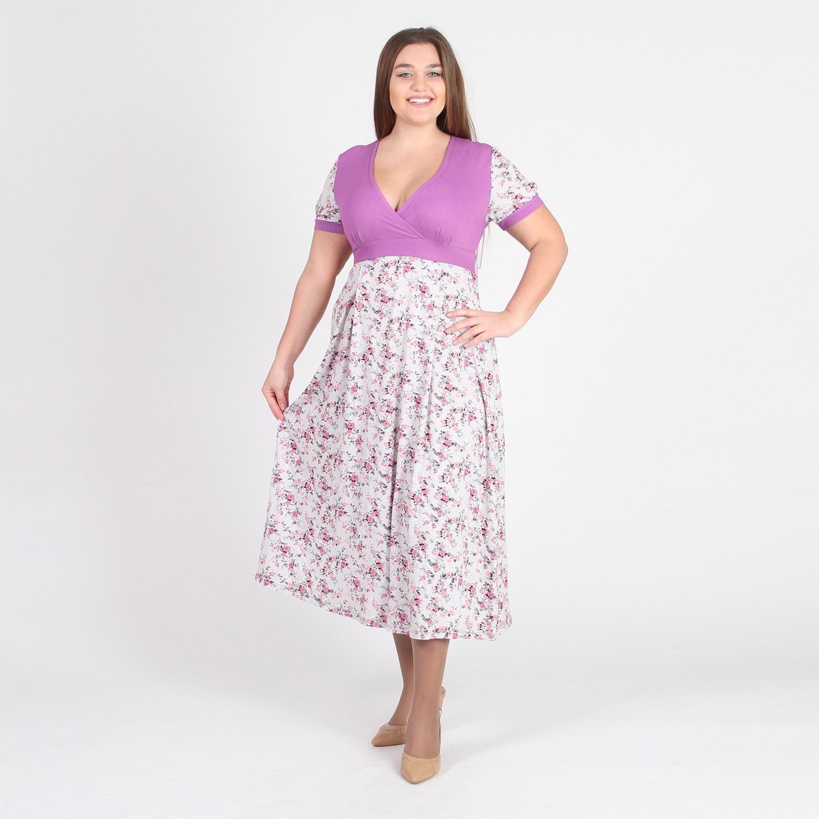 Платье с поясом и комбинированным принтом