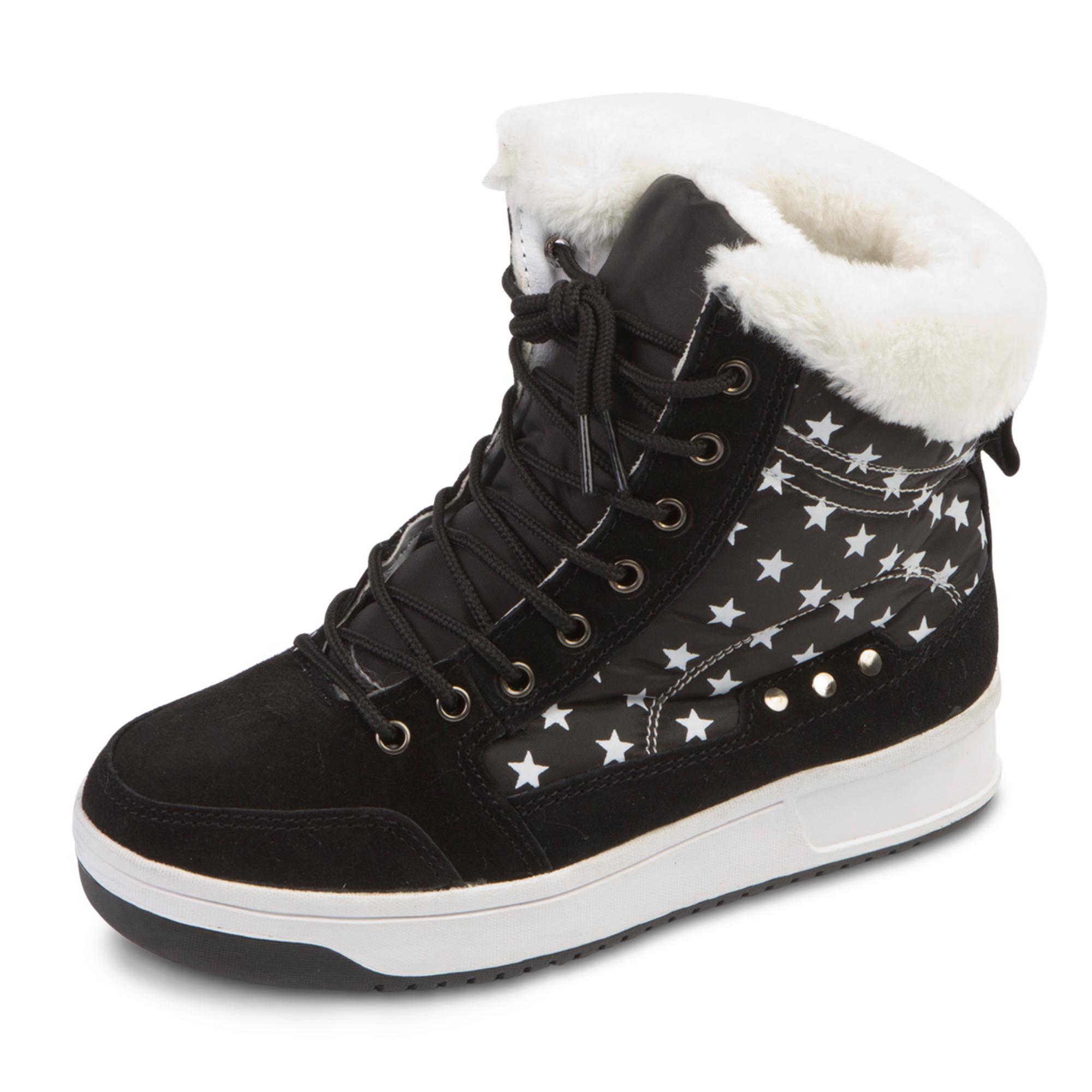Женские зимние ботинки-дутики «Звездочки»