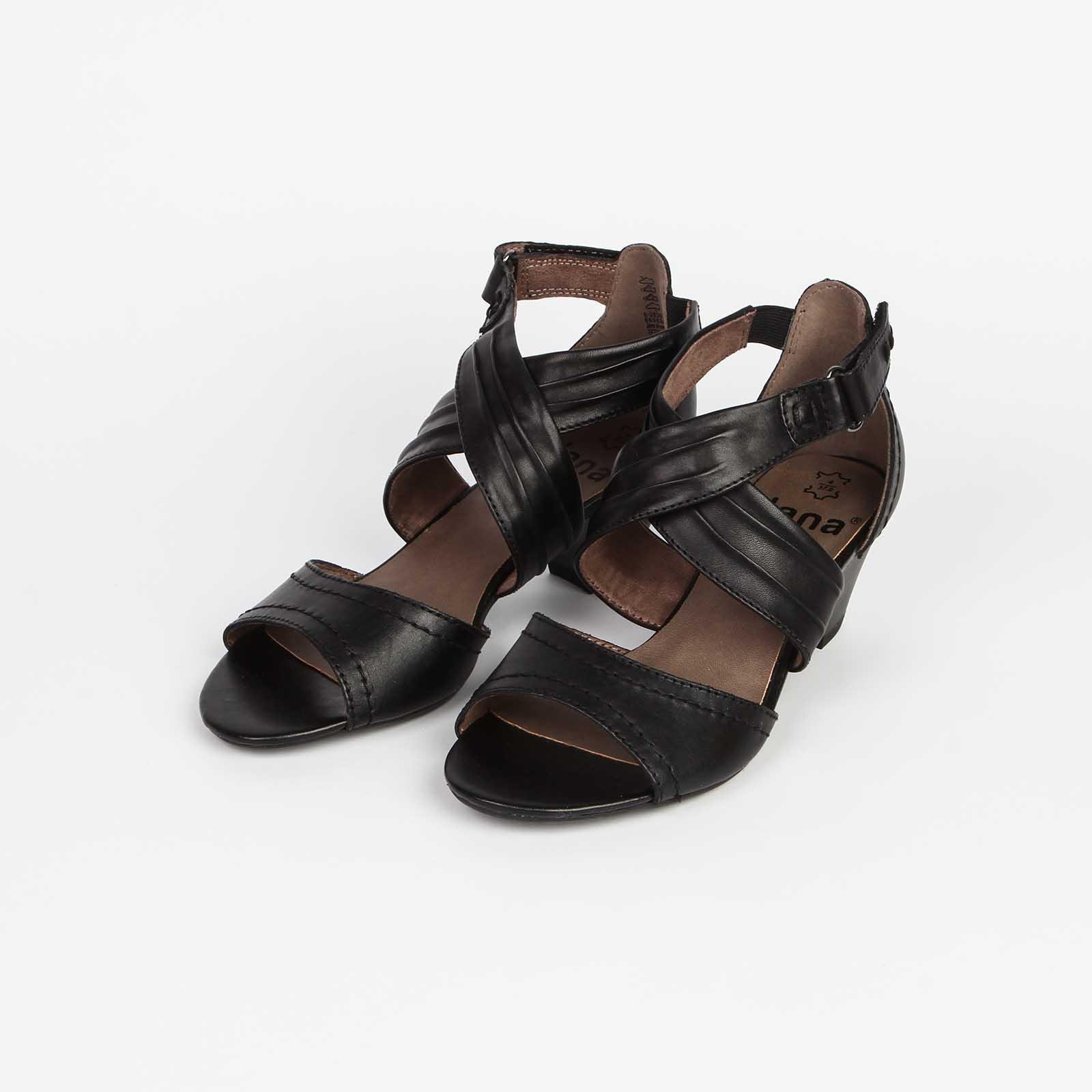 Босоножки женские из натуральной кожи  на удобном каблуке
