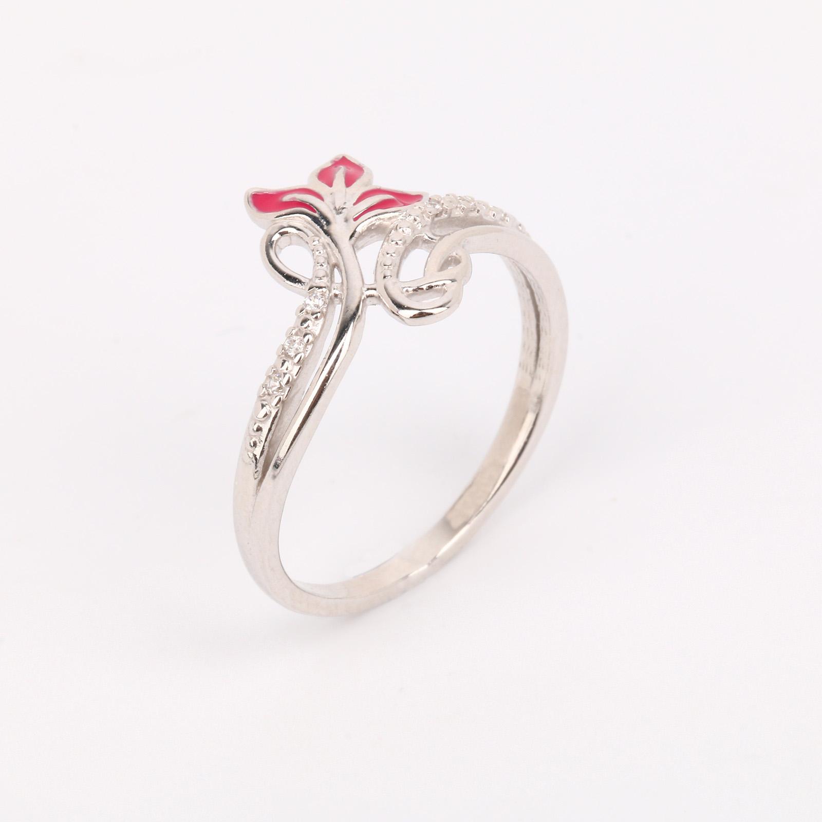 """Серебряное кольцо """"Пламенное мгновение"""""""