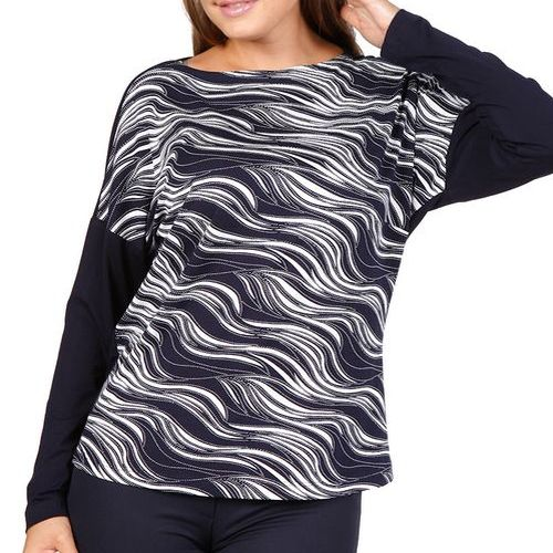 Блуза с принтом «Волна»