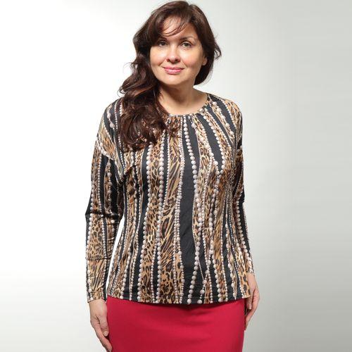 Блуза с принтом леопард-жемчуг