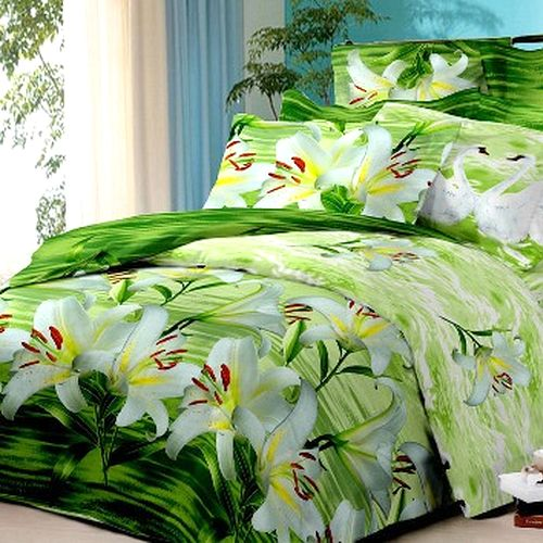 Комплект постельного белья «Лилии на пруду»