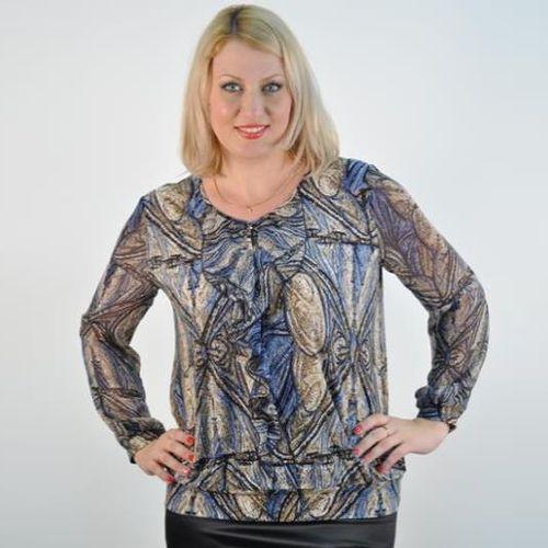 Шифоновая блуза с воланами