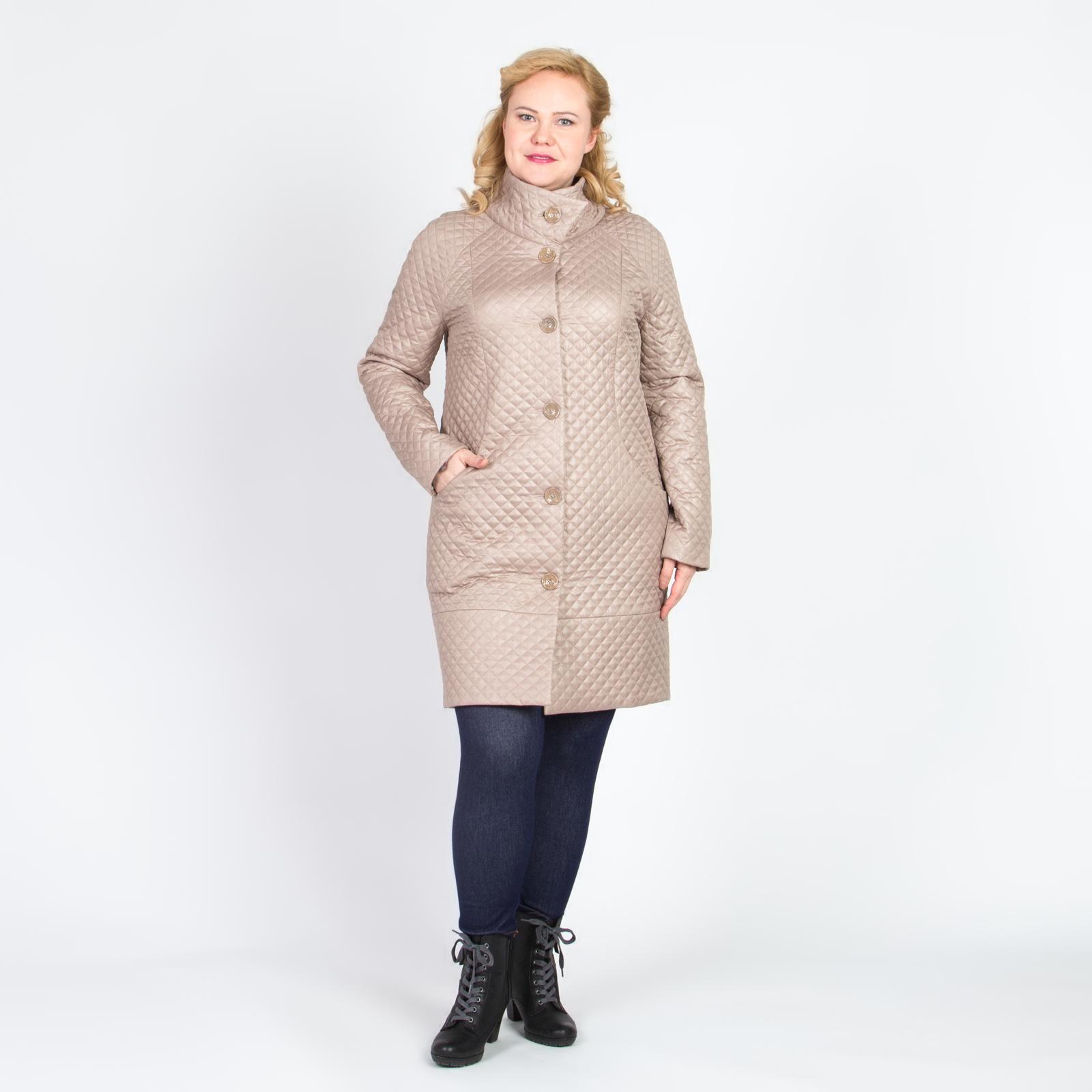 Пальто стеганое зауженное