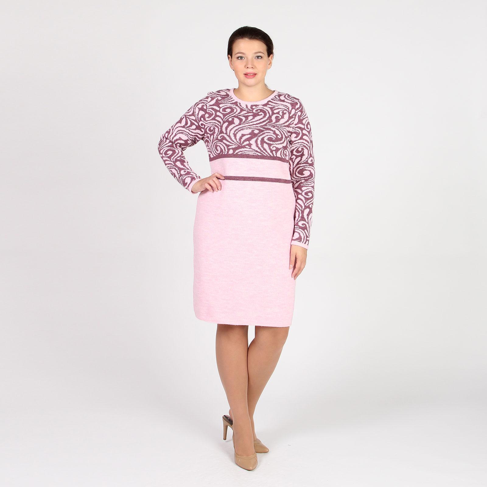 Платье-миди с узорным верхом