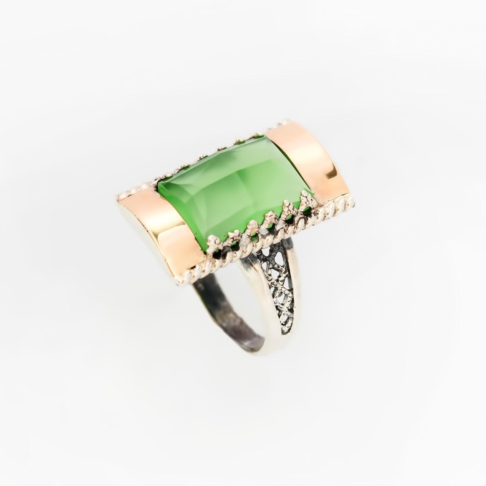 Серебряное кольцо «Ландыш серебристый»