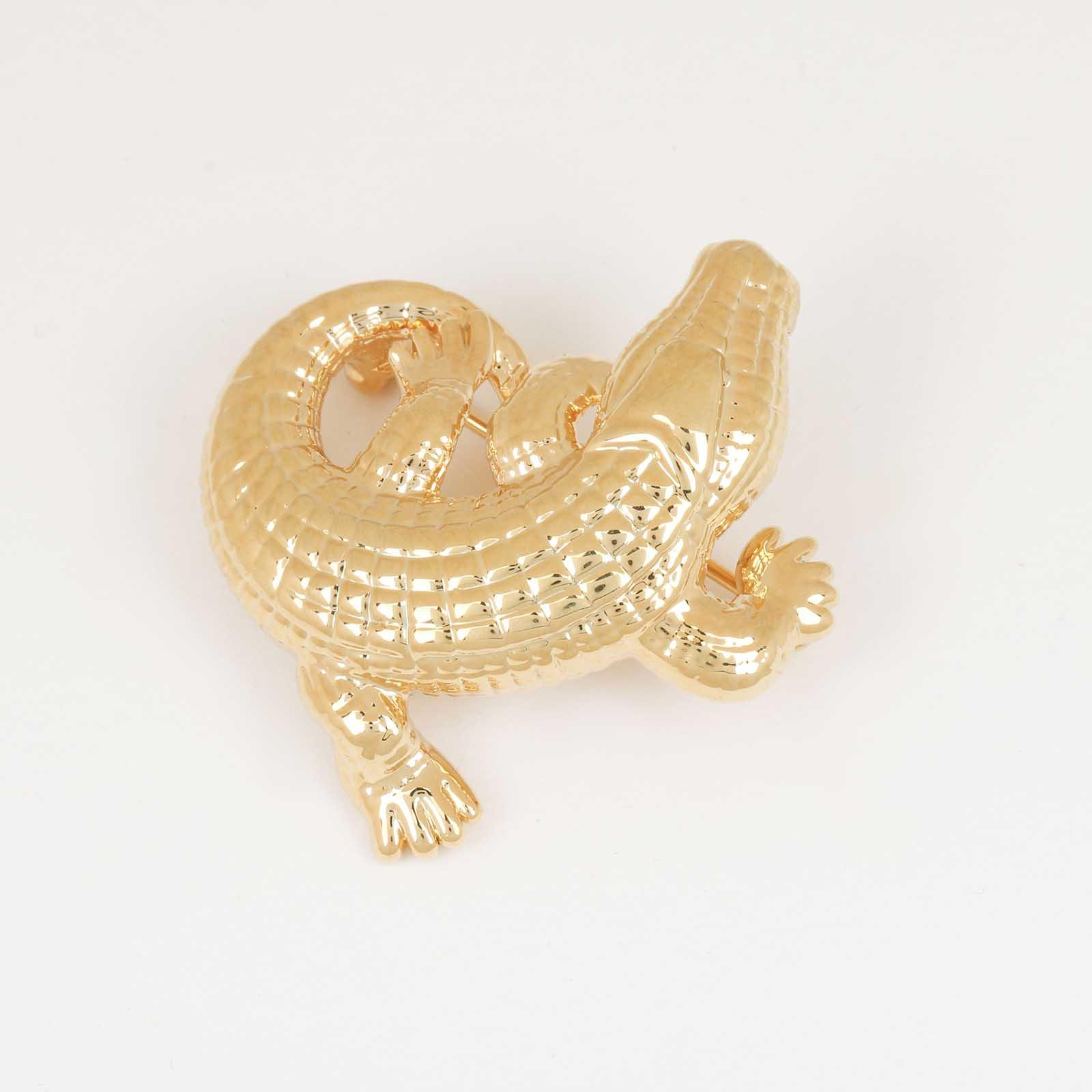 Брошь «Золотой Крокодил»