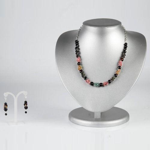 Комплект украшений «Переливы шелка» авторский комплект самоцветы сентябрина