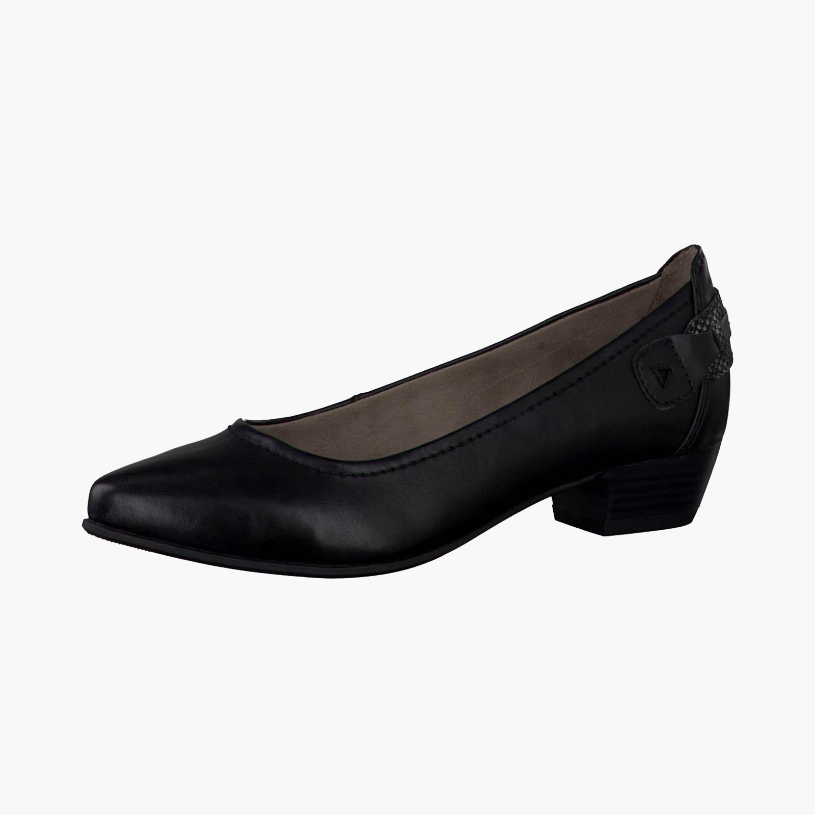 Женские туфли-лодочки на наборном каблуке