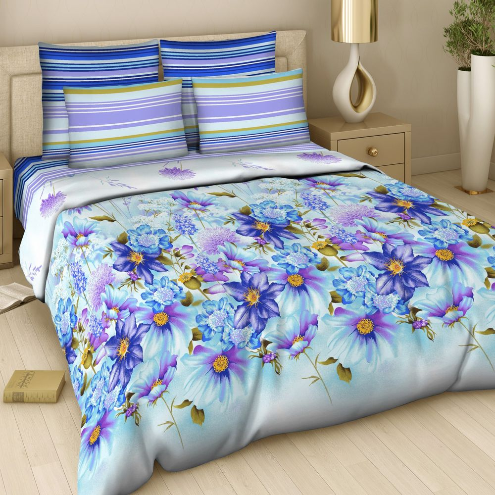 Комплект постельного белья «Лазурный букет»