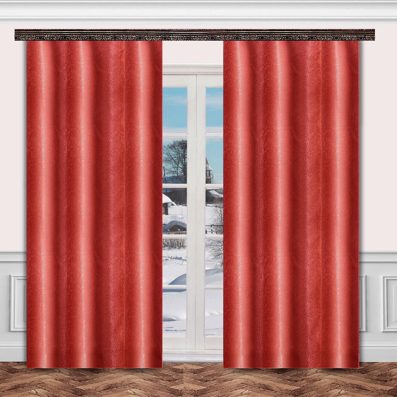Комплект штор «Бордовый перелив»