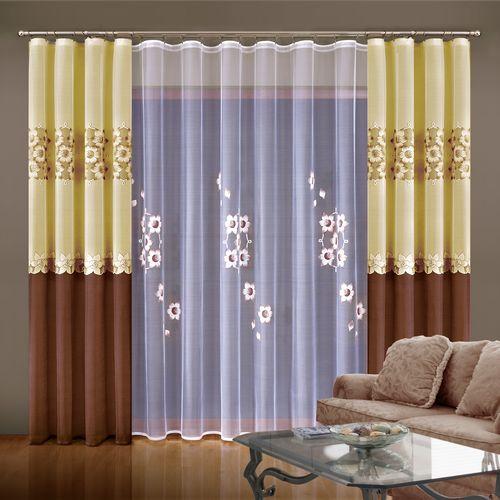Комплект штор + тюль «Медовый цветок»