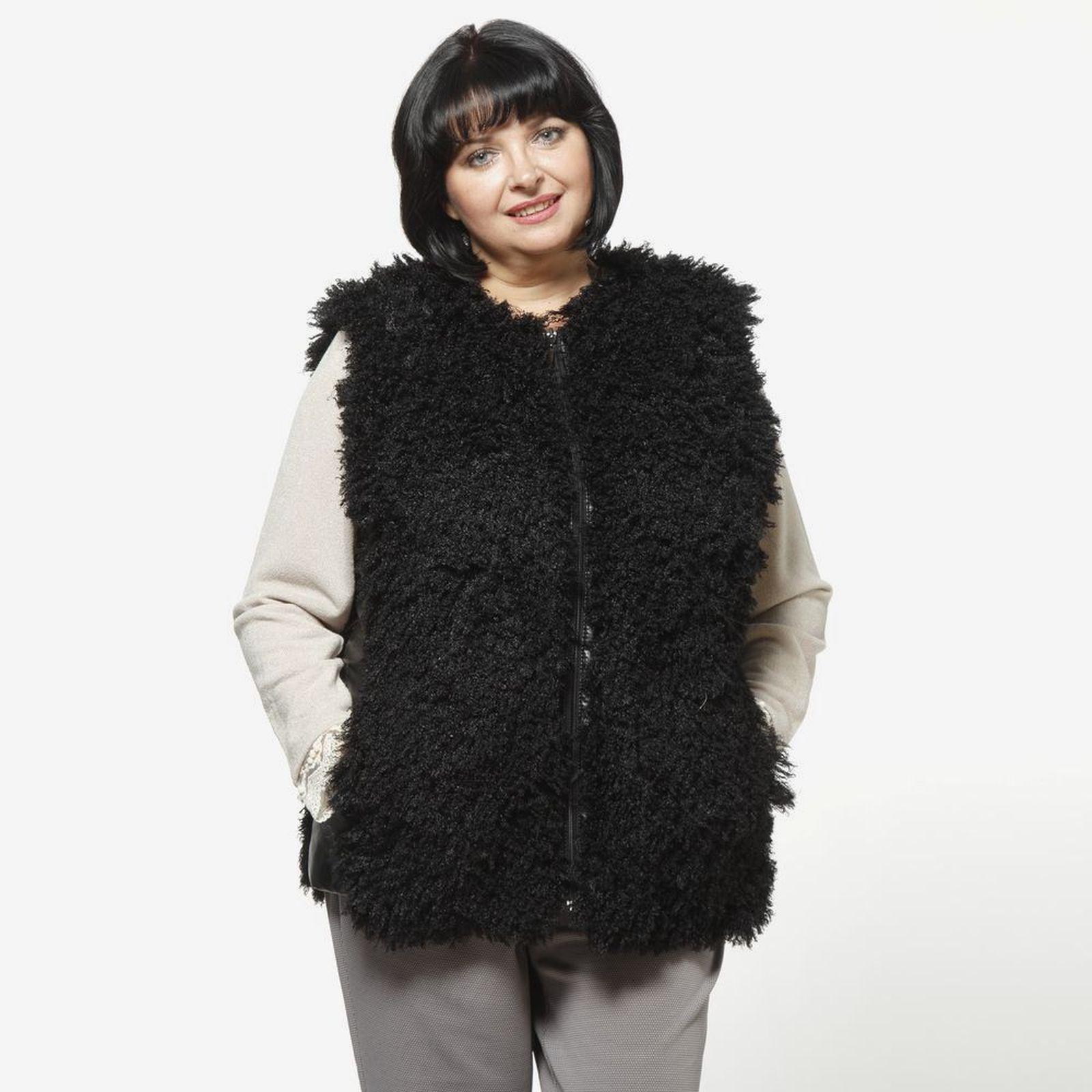 Меховой жилет на молнии винтажная одежда интернет магазин купить