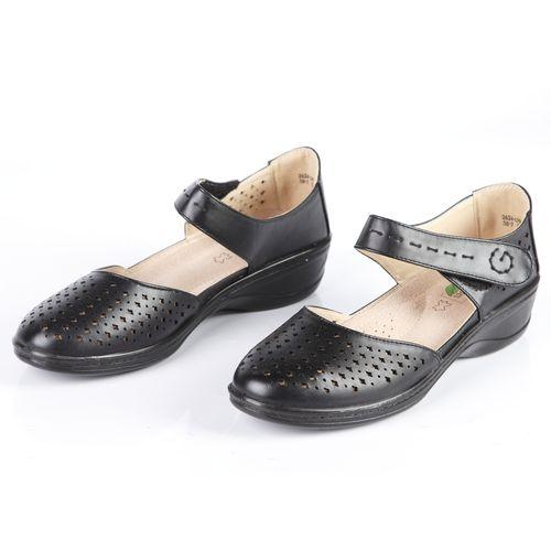 Женские туфли перфорированные с ремешком