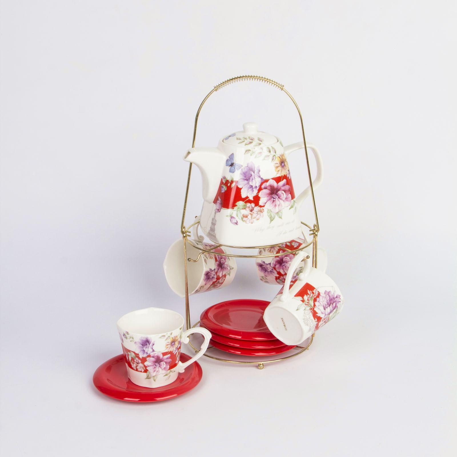 Чайный сервиз на подставке из Био и Эко керамики