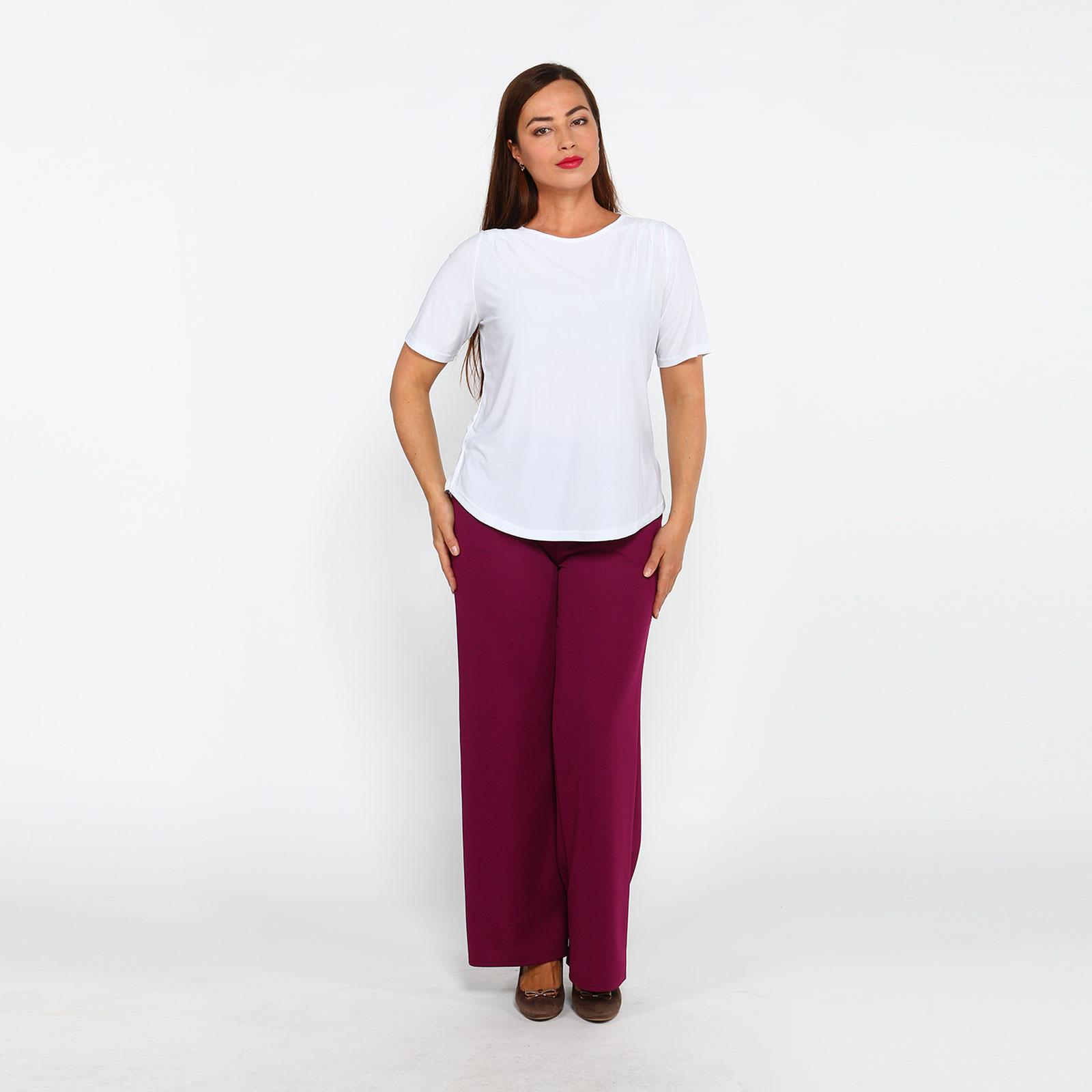 Блуза прямого кроя с коротким рукавом