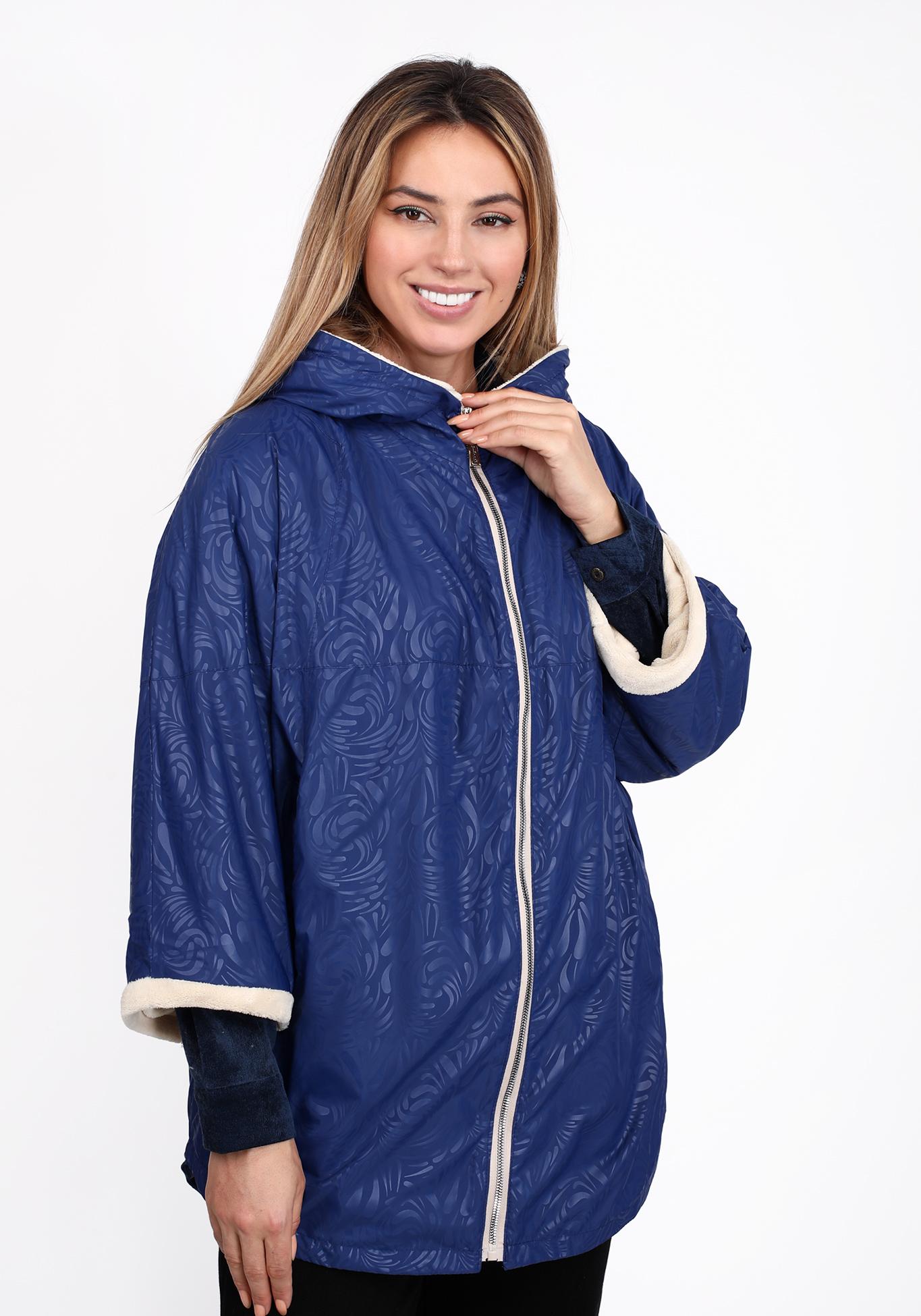 Куртка с капюшоном на подкладке из эко-меха