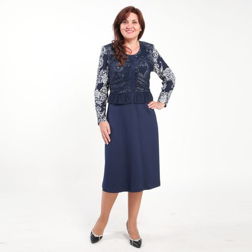 Элегантное платье с расклешенной юбкой и длинным рукавом