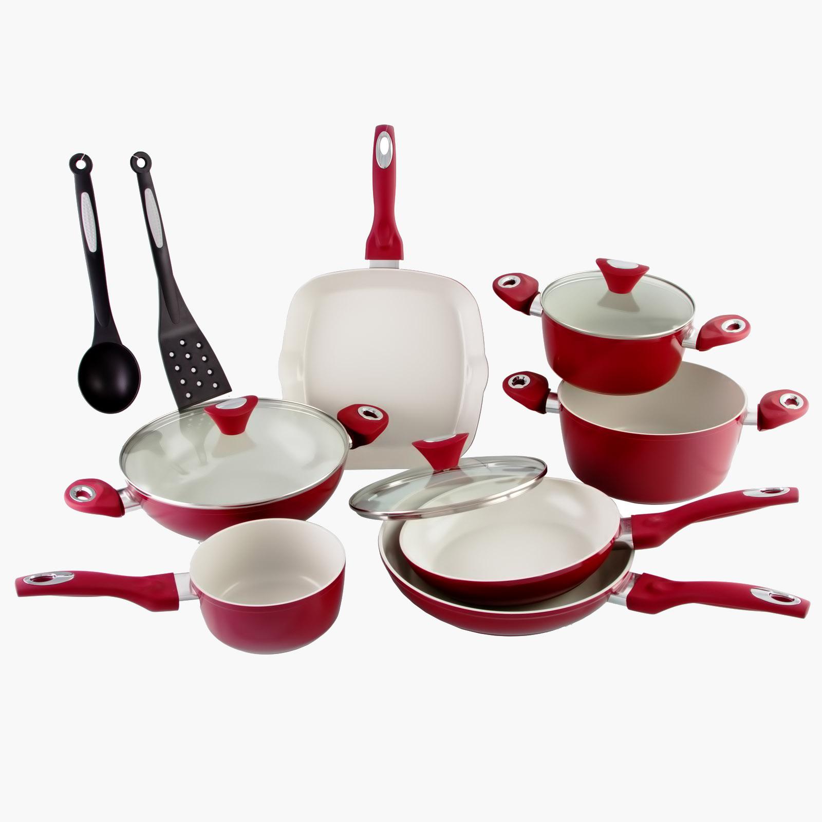 """Набор посуды """"Спелая вишня"""", 12 предметов"""