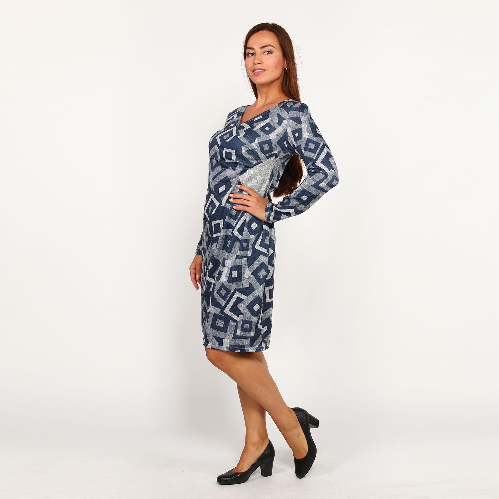 Платье с принтом и вставкой рубашка gerry weber gerry weber ge002ewwra96