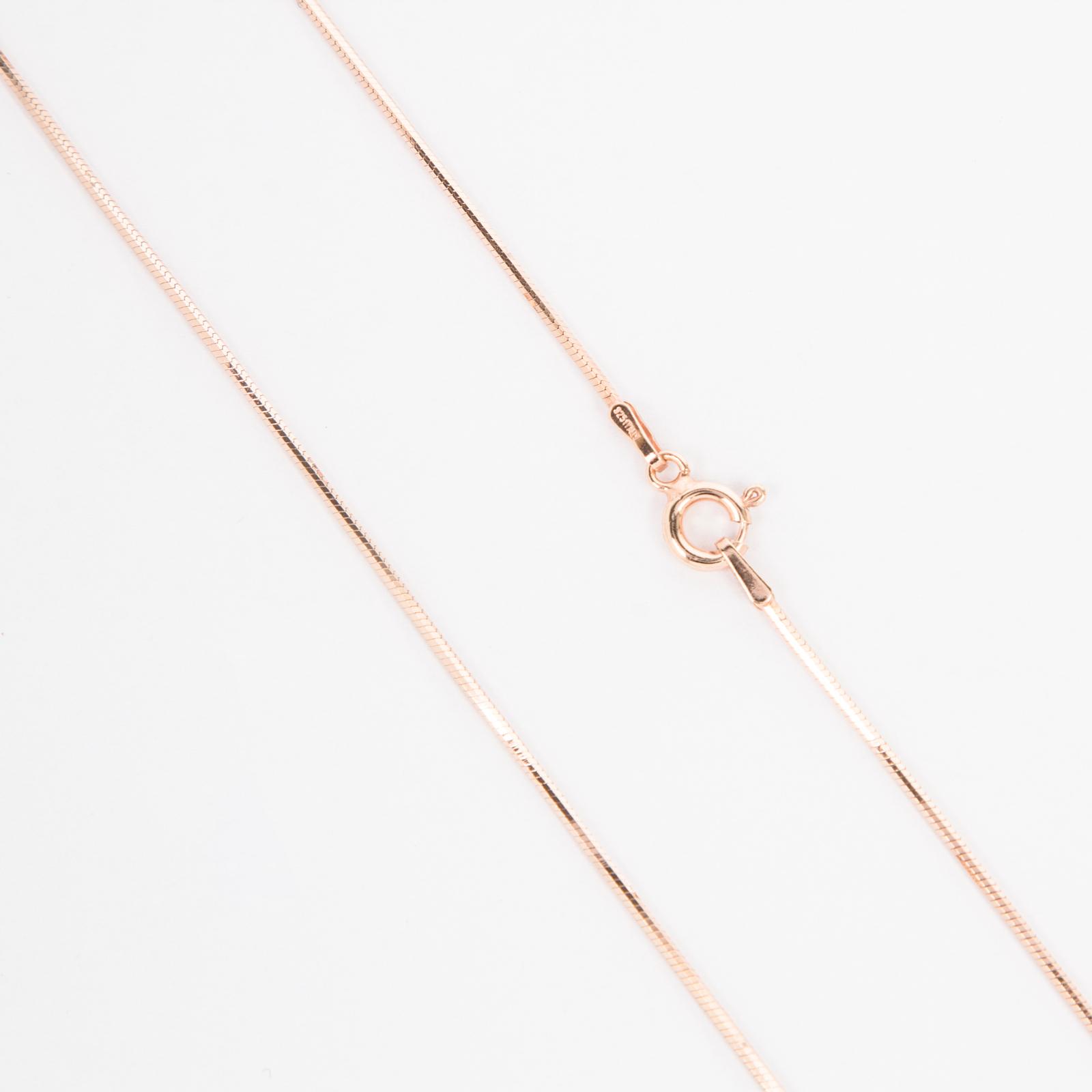 Серебряная цепь «Шнурок» с позолотой