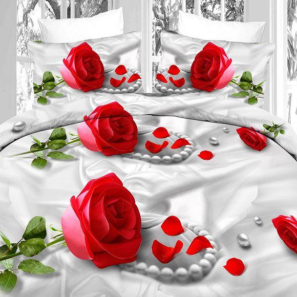 Комплект постельного белья «Роза и роскошь»