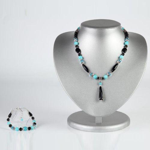 Комплект украшений «Бирюзовая капель»