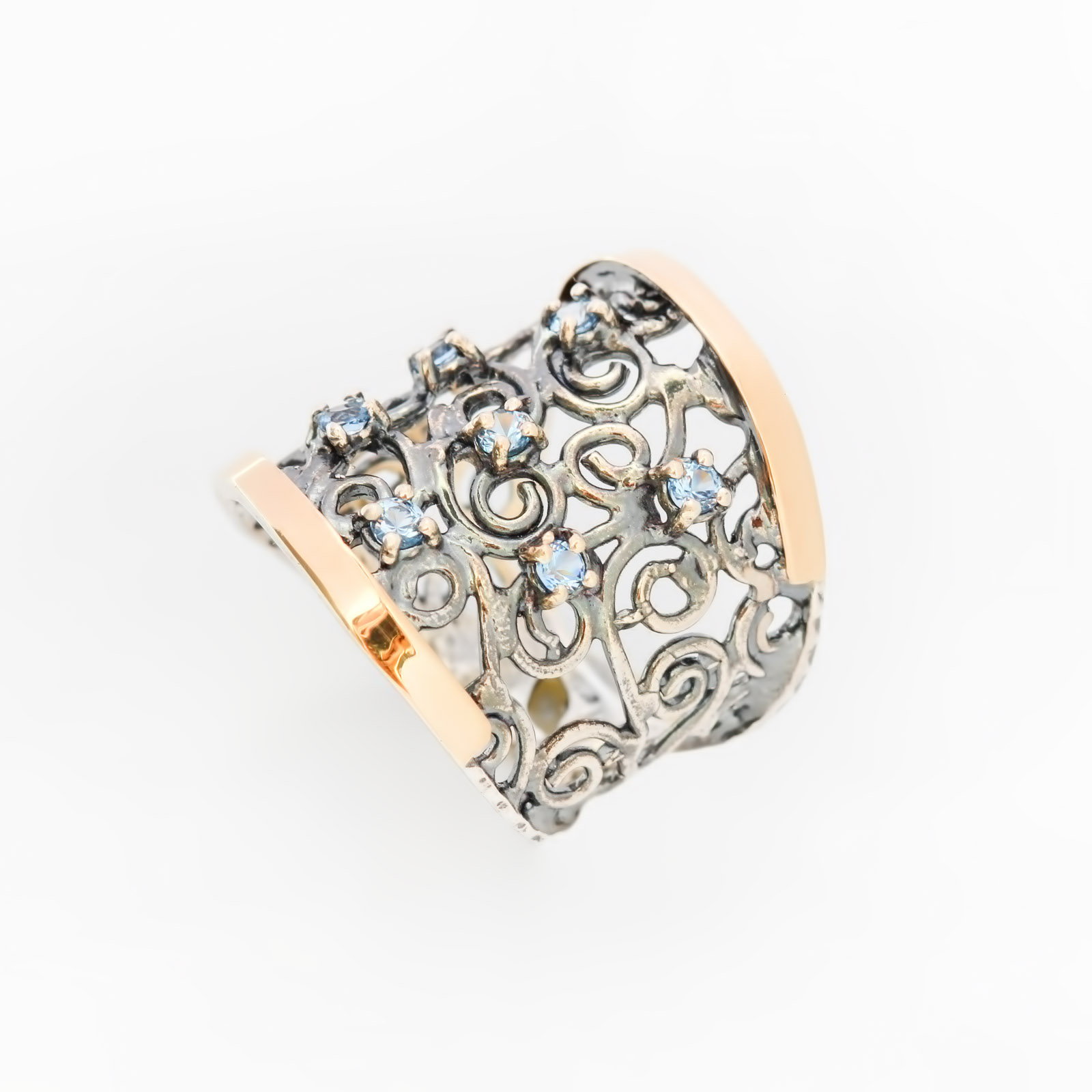 Серебряное кольцо «Ночь нежна»