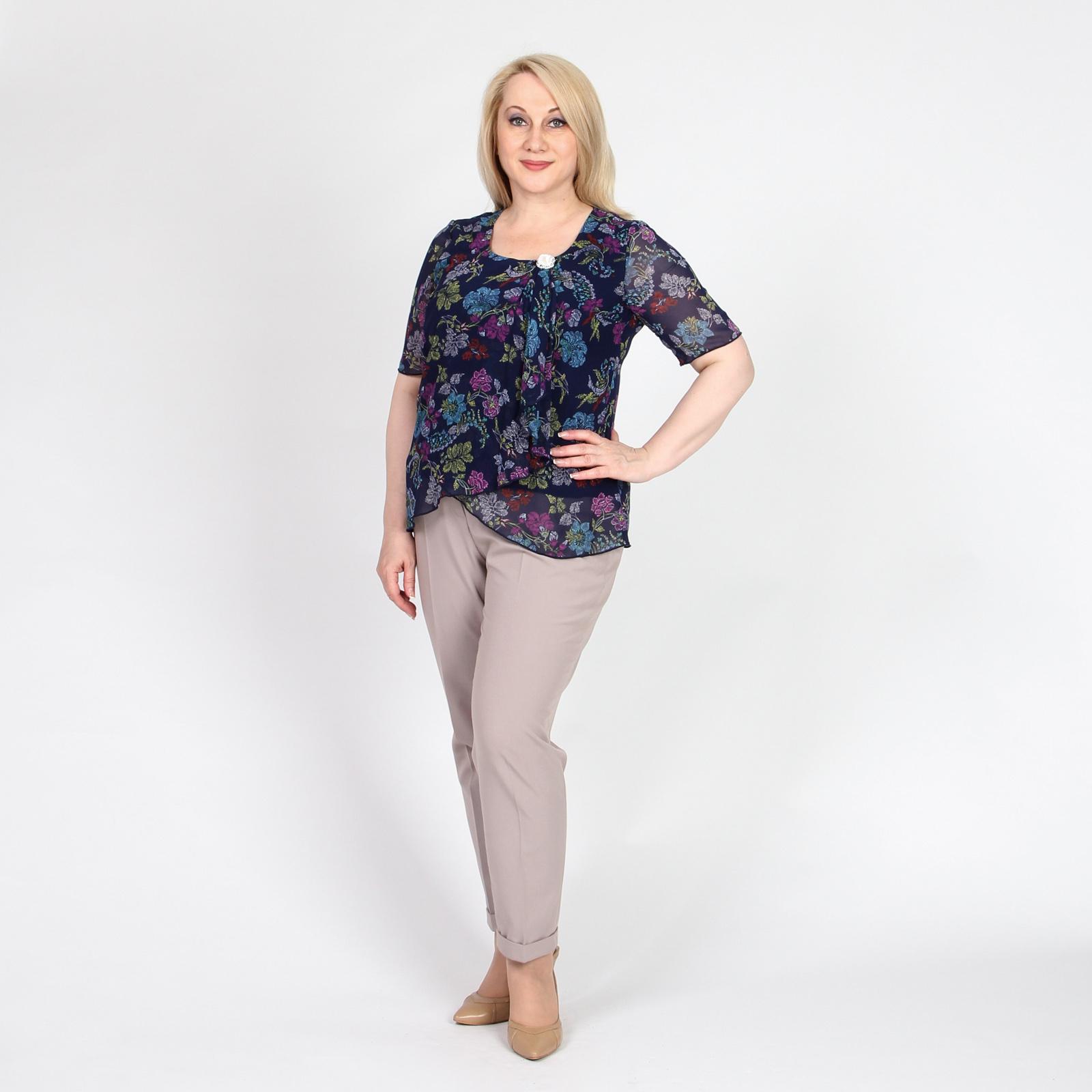 Блуза из шифона с декоративным украшением